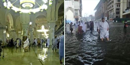 MASYAALLAH.. Makkah Banjir, Di Masjidil Haram Air sampai Semata Kaki
