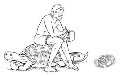 Achilles and the tortoise. Mathematics For Blondes.