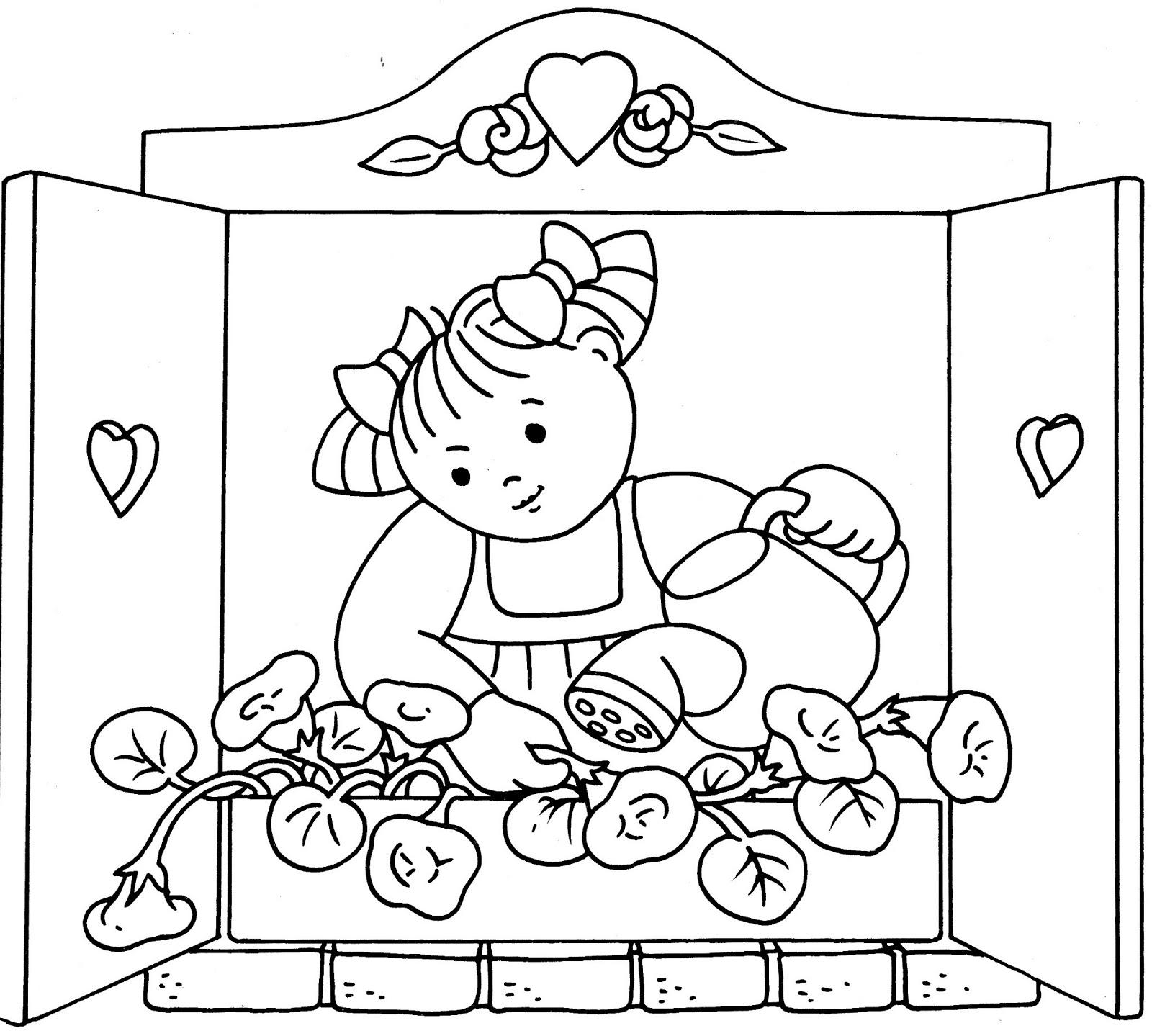 Dorable Páginas Para Colorear Flores Para Niños En Edad Preescolar ...
