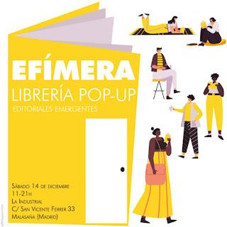 cartel librería efímera