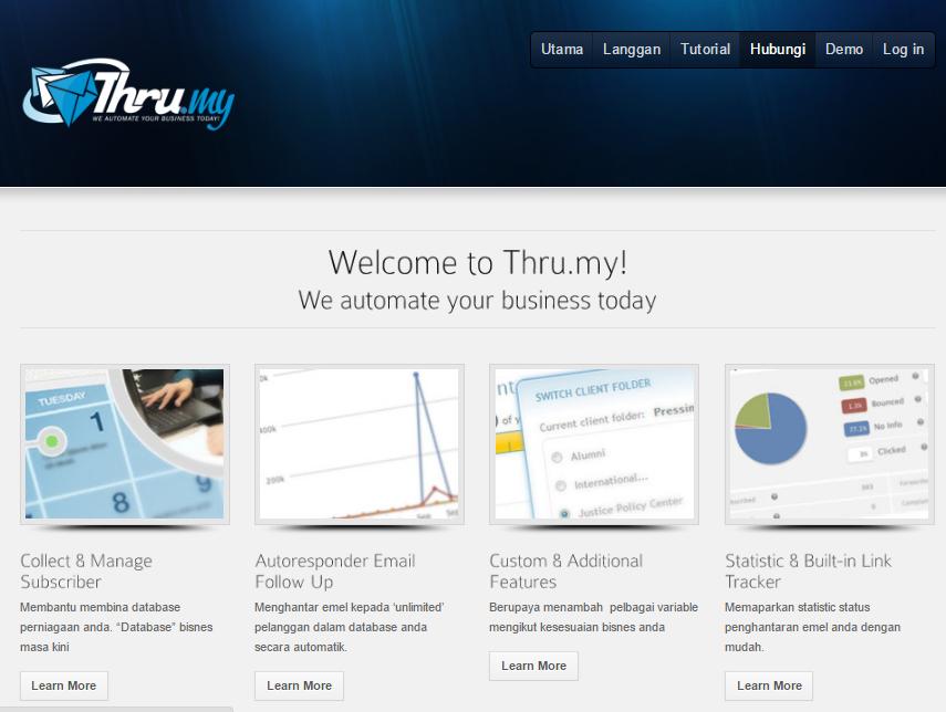 Thru.My - Mesin Automatik Pemasaran Emel PERCUMA Selama 12 Bulan