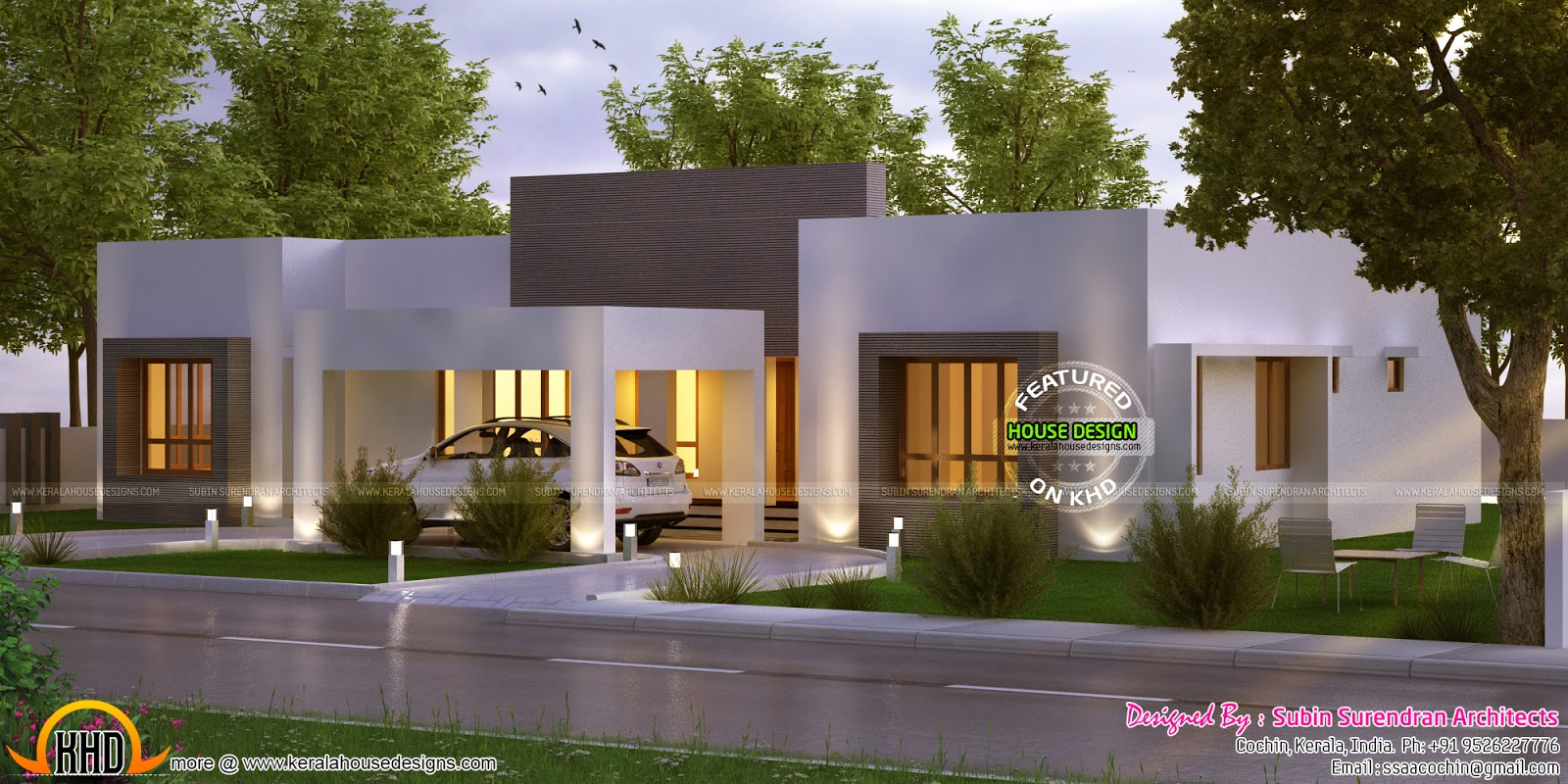 Elegant looking one floor home | Kerala home design ...