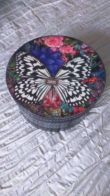 Inspiracje ze świata przyrody – pudełko z łuby z motylem w stylu Boho ;)