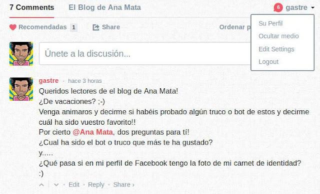 Comentarios disqus en español