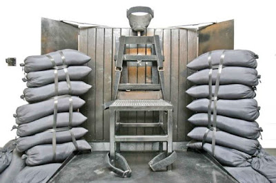 The chair used in Utah for firing squad executions