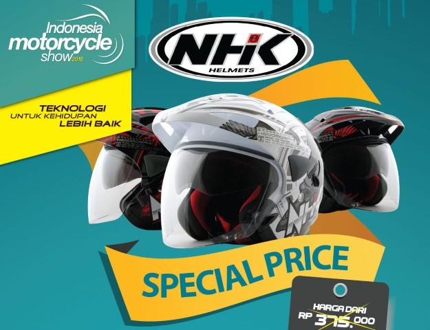 Promo helm IMOS 2016 : Dapatkan helm NHK Predator dengan harga special