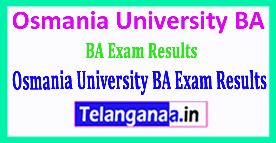 Osmania University BA Exam 2018 Results Download