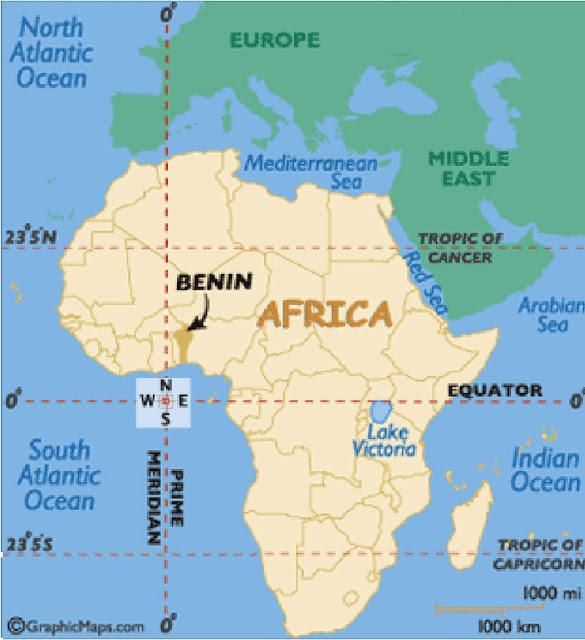 Gambar Peta Posisi Negara Benin