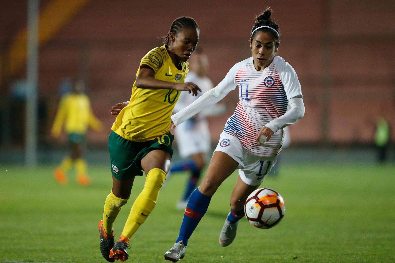 Chile y Sudáfrica en partido amistoso femenino, 9 de octubre de 2018