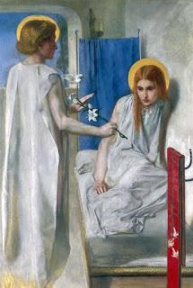 Nomes bíblicos de menina: letra C (Imagem: A Anunciação - Dante Rossetti)