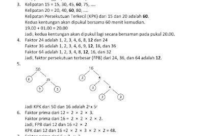 Latihan Soal UAS  Matematika Kurikulum 2013 Kelas 4 SD Semester 1