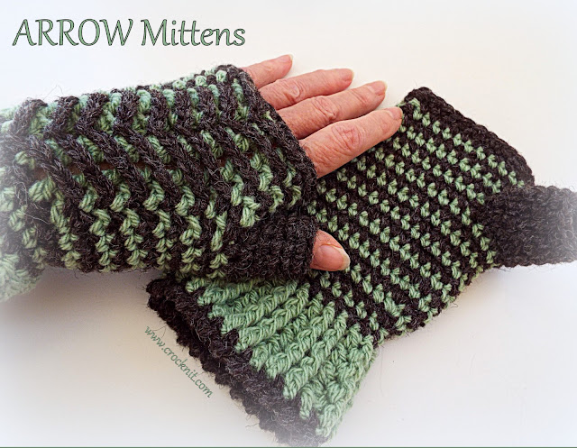 beanies, crochet patterns, hats, headbands, how to crochet, mittens, scarves, arrows, arrow heads,