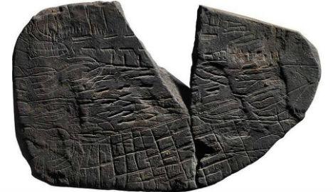 Une carte sur une pierre, vieille de 5000 ans, découverte au Danemark
