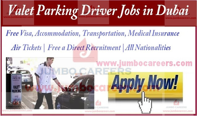 Details of latest valet parking driver jobs in Dubai, Dubai jobs with salary and benefits,