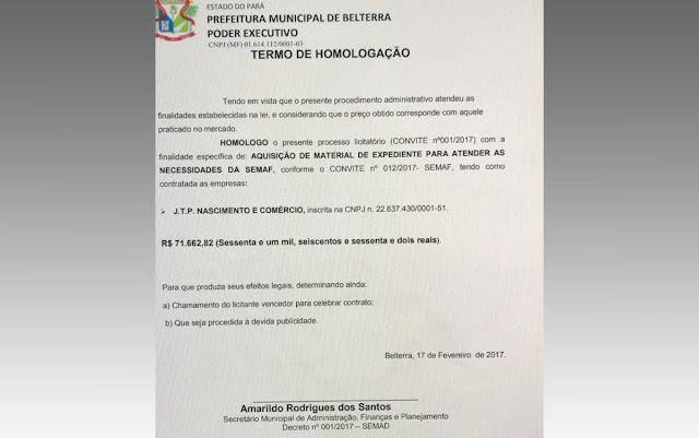 Operação 'Ave de Rapina' é deflagrada em Prefeitura e secretarias municipais de Belterra
