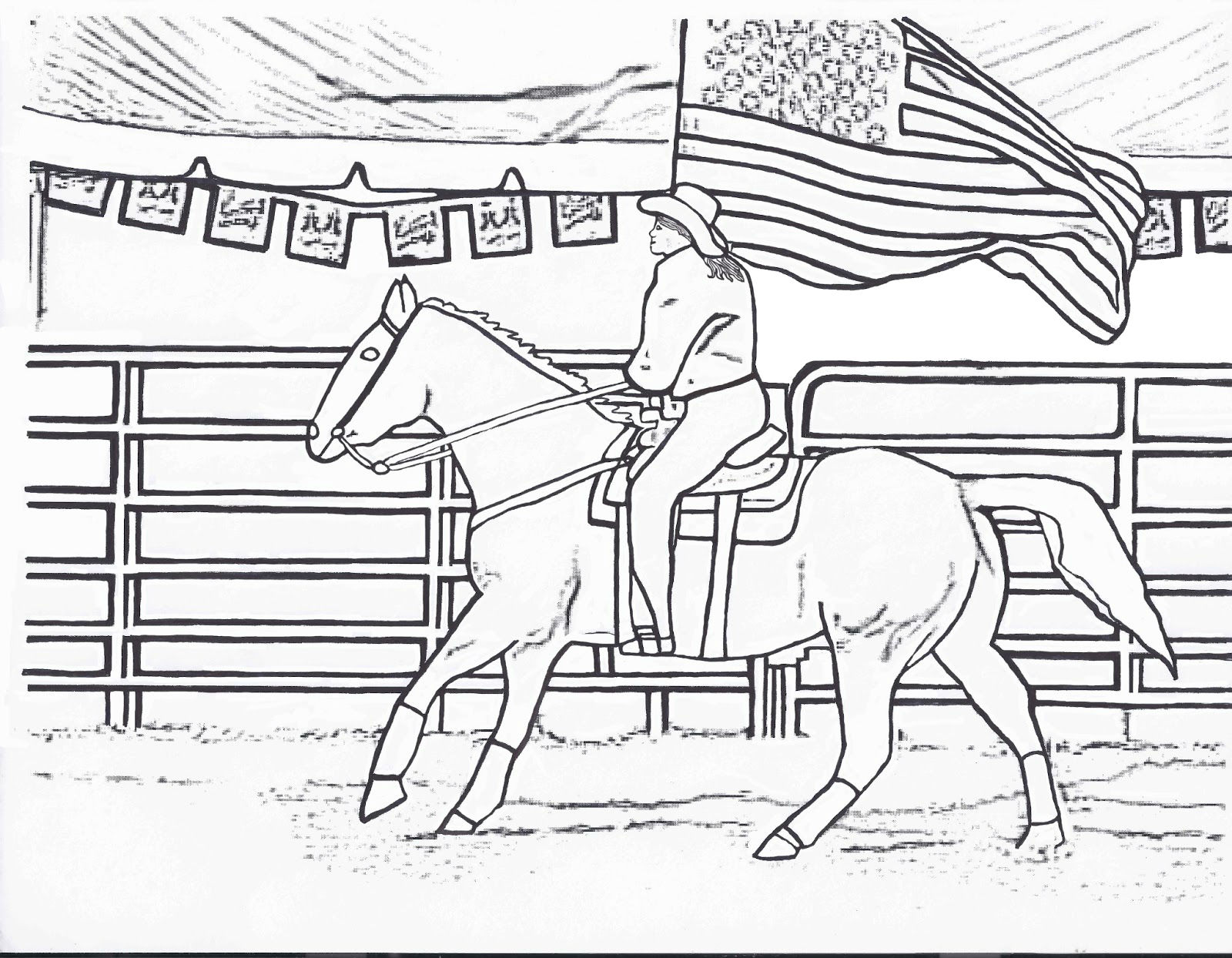 Types Of Sports Coloring Pages For Kids: Horse Riding ...