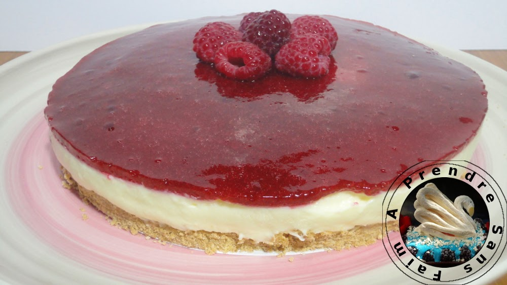 Cheesecake framboises citron