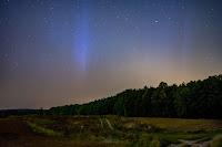 Zorza polarna sfotografowana w noc z 27 na 28.09.2017 r., godz. 04:14 CEST. Poznań, Morasko, wielkopolskie. Autor: Leszek Bartczak