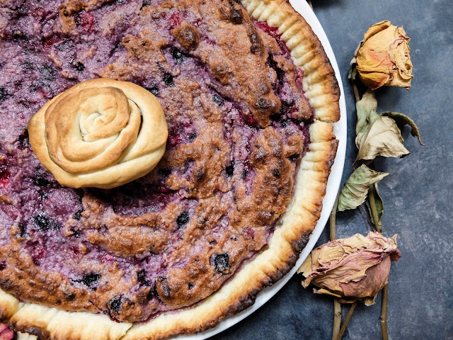 Tarte fruits rouges frangipane vegan