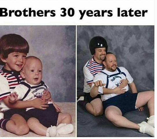childhood photo recreation