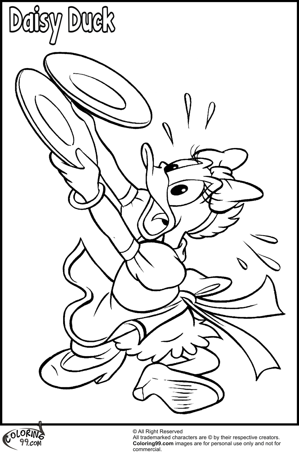 Daisy Duck Coloring Pages | Team colors