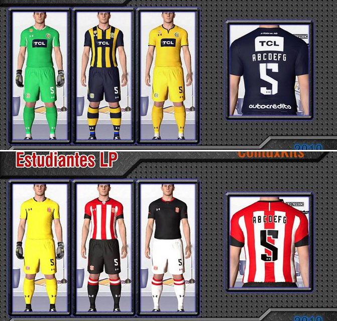 PES 2017 Mini Kitpack Central Rosario and Estudiantes 2019 by Kitmaker ColituxKits