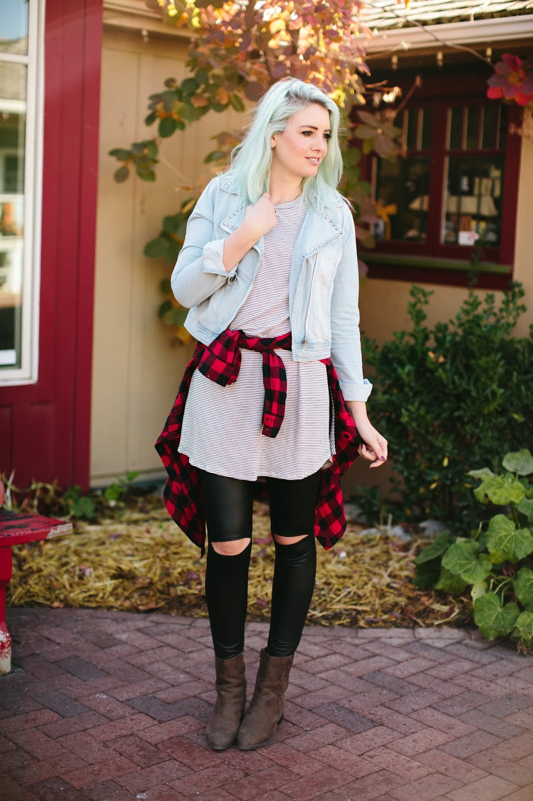 Fall Style, Fall outfit, striped tunic