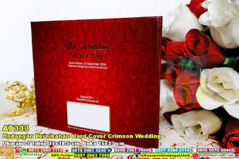 Undangan Pernikahan Hard Cover Crimson Wedding