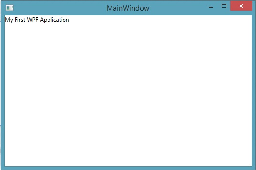 WPF first message shown when run the application