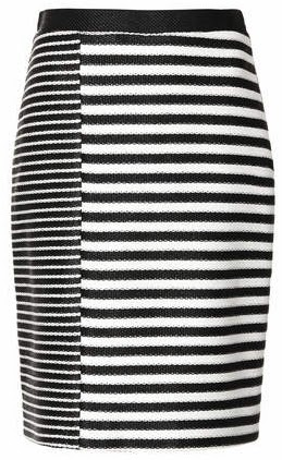 topshop striped skirt