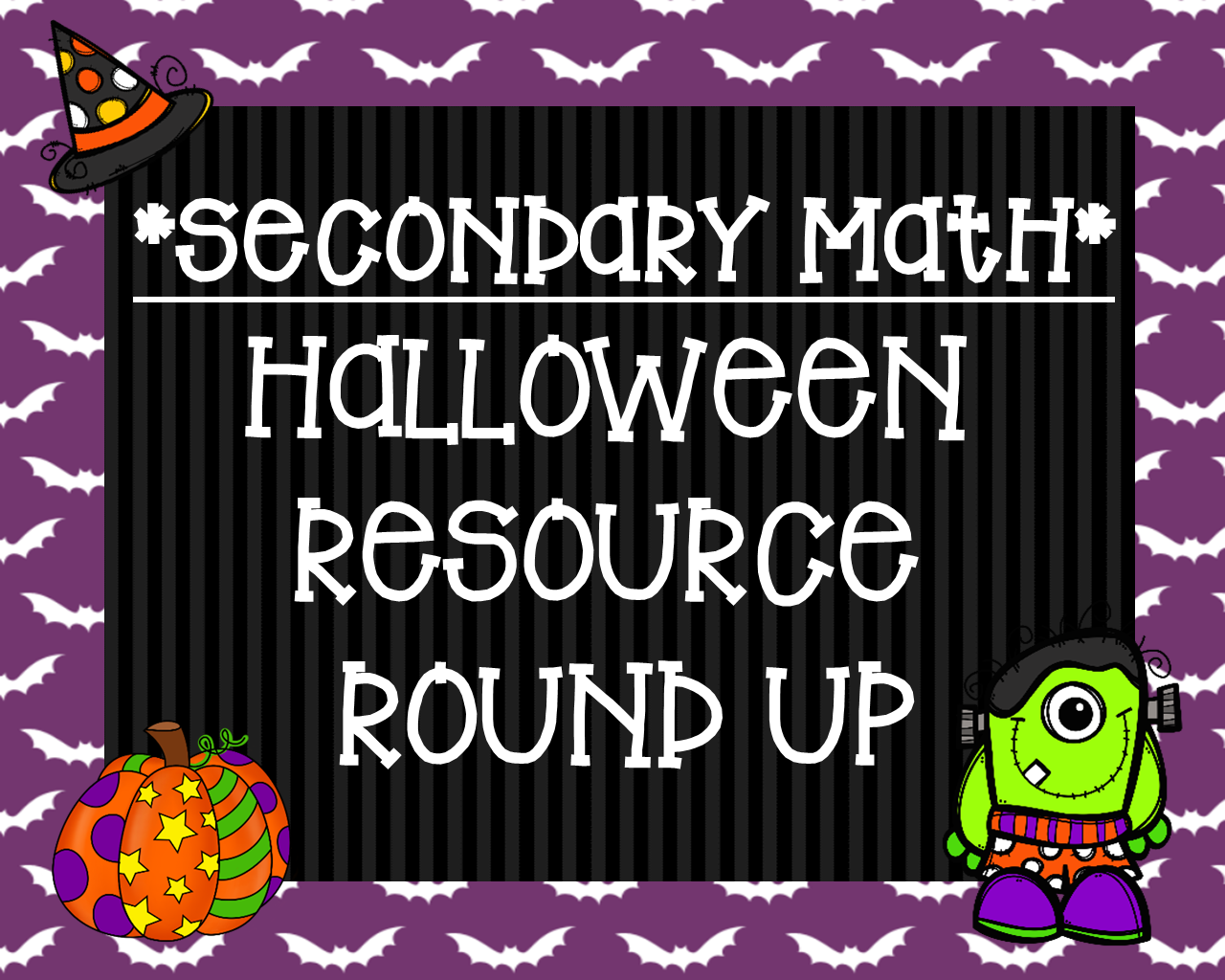 4 The Love Of Math Secondary Math Halloween Resource