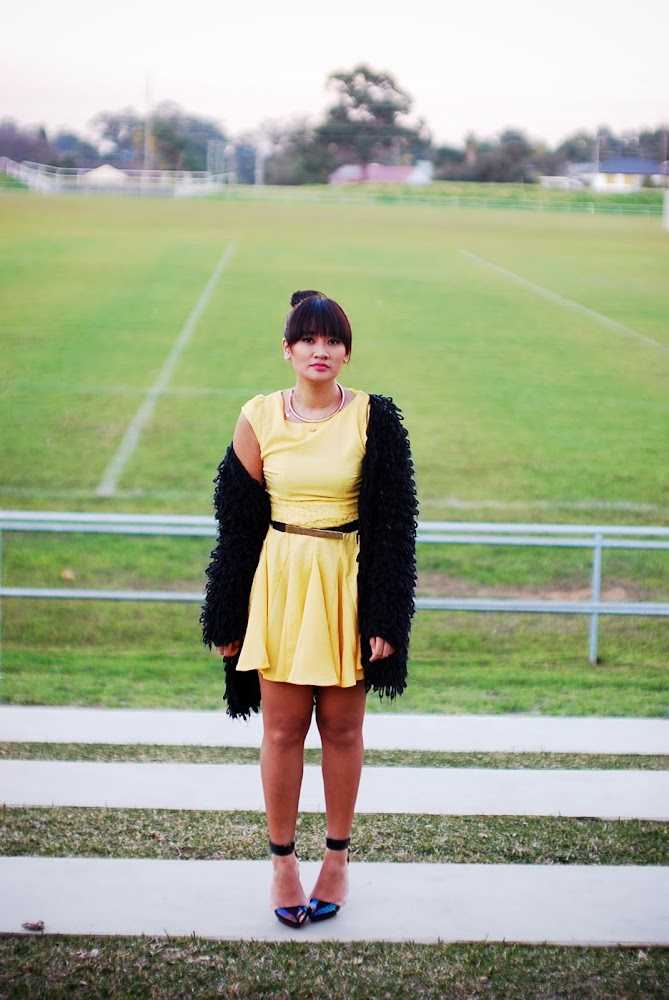 AX Paris Yellow Dress Fashion Blog Princess Polly