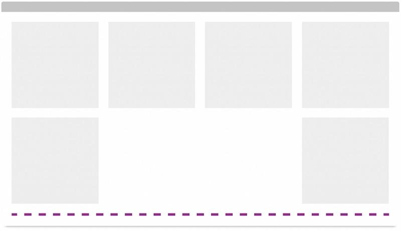 """Alineación justificada y distribuida en varias líneas con ayuda de un elemento de """"salto"""" de elementos """"inline-block"""""""
