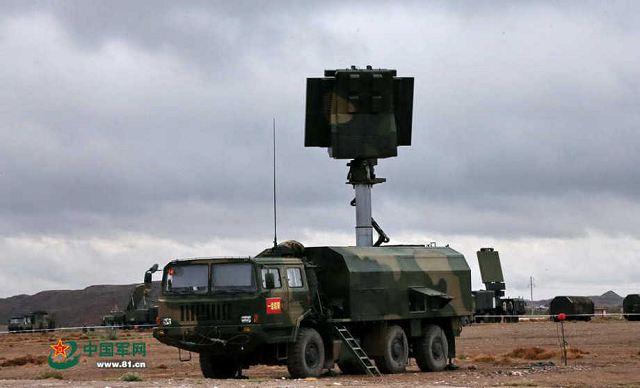 Image Attribute: Search radar vehicle from HQ-16A (LY-80) air defence missile system battery unit / Source: www.81.com