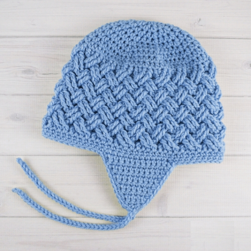 Celtic Dream Earflap Crochet Hat - Free Pattern