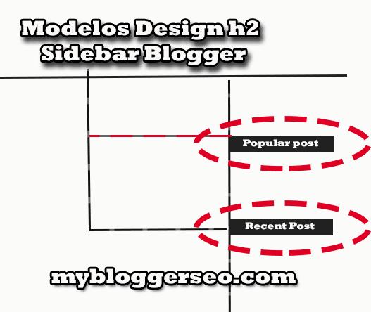 Modelos design  sidebar H2 para Blogger
