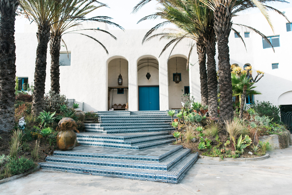 Atop The Hollywood Hills In Los Angeles Sits A Unique Private Estate Covered Handmade Tiles Owners Of Casa Agrama Made Each Tiny Tile Their Own