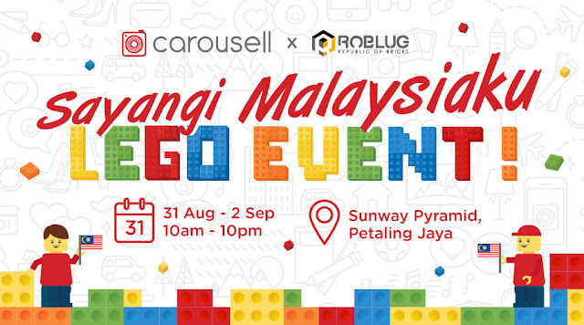 "CAROUSELL'S ""SAYANGI MALAYSIAKU"" LEGO ART EXHIBITION IN CONJUNCTION WITH MERDEKA"