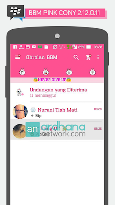Preview BBM Pink Cony V2.12.0.11