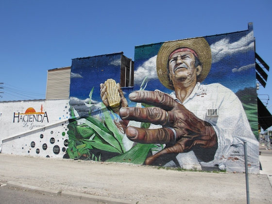 Mural Hacienda Mexican Foods southwest Detroit
