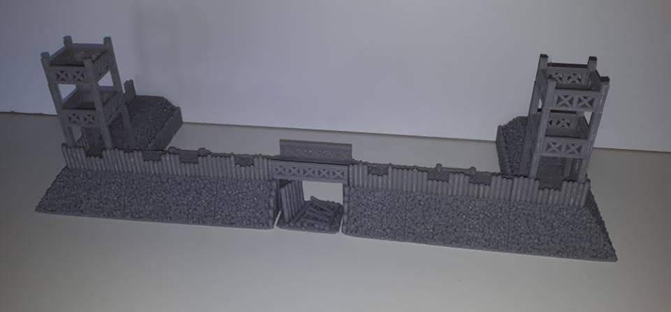 10mm Wargaming: Half a Roman Fort from Printable Terrain