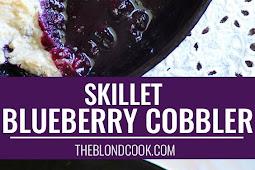SKILLET BLUEBERRY COBBLER