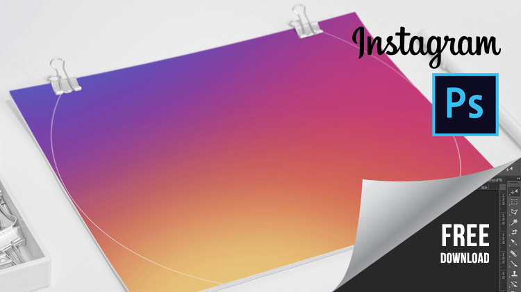 download new instagram 2016 rainbow color background theme in high res psd free download