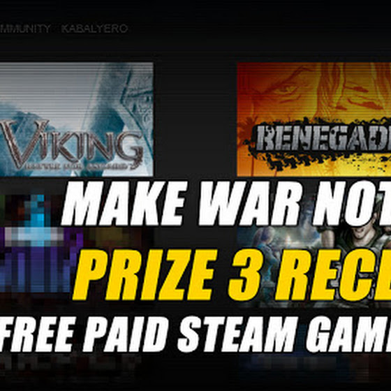 Make War Not Love Prize 3 Received ★ 3 More Paid Steam Games Free From SEGA