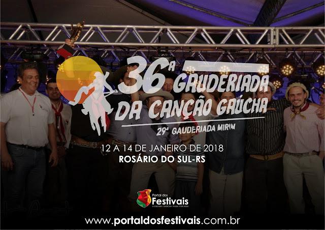 Inscrições para a 36ª Gauderiada da Canção Gaúcha e 29ª Gauderiada Mirim encerram-se no dia 1º de dezembro