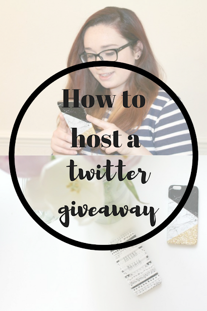 How to host a Twitter Giveaway. Nourish ME: www.nourishmeblog.co.uk