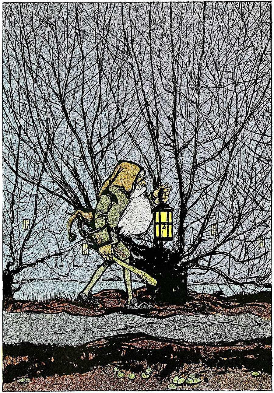 C.B. Falls color illustration for Snow White