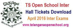 TOSS/ TS Open Inter Hall tickets 2017 telangana Open School Inter Hall ticket Download
