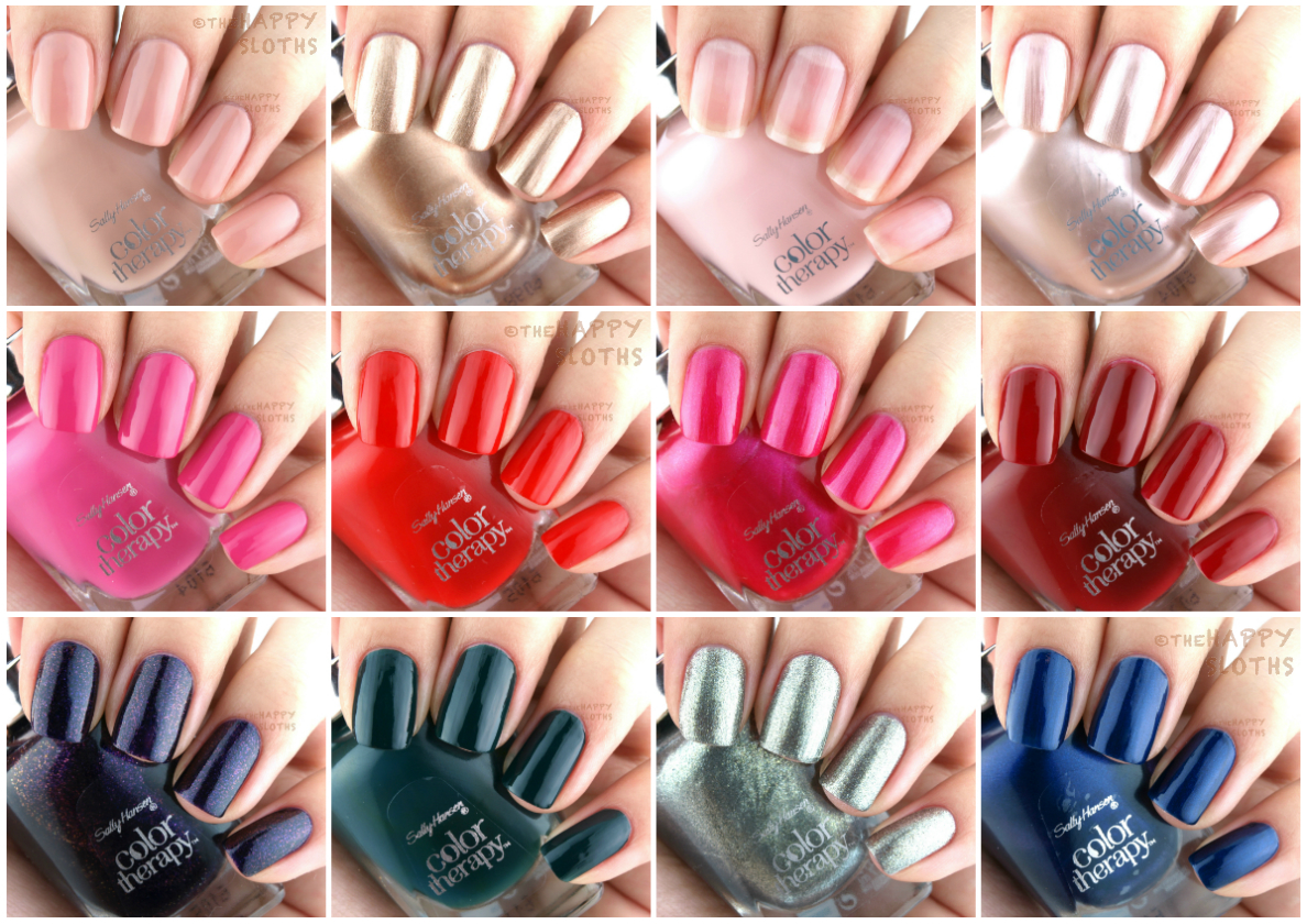 Colour therapy for beauty - Sally Hansen Color Therapy Nail Polish Review And Swatches