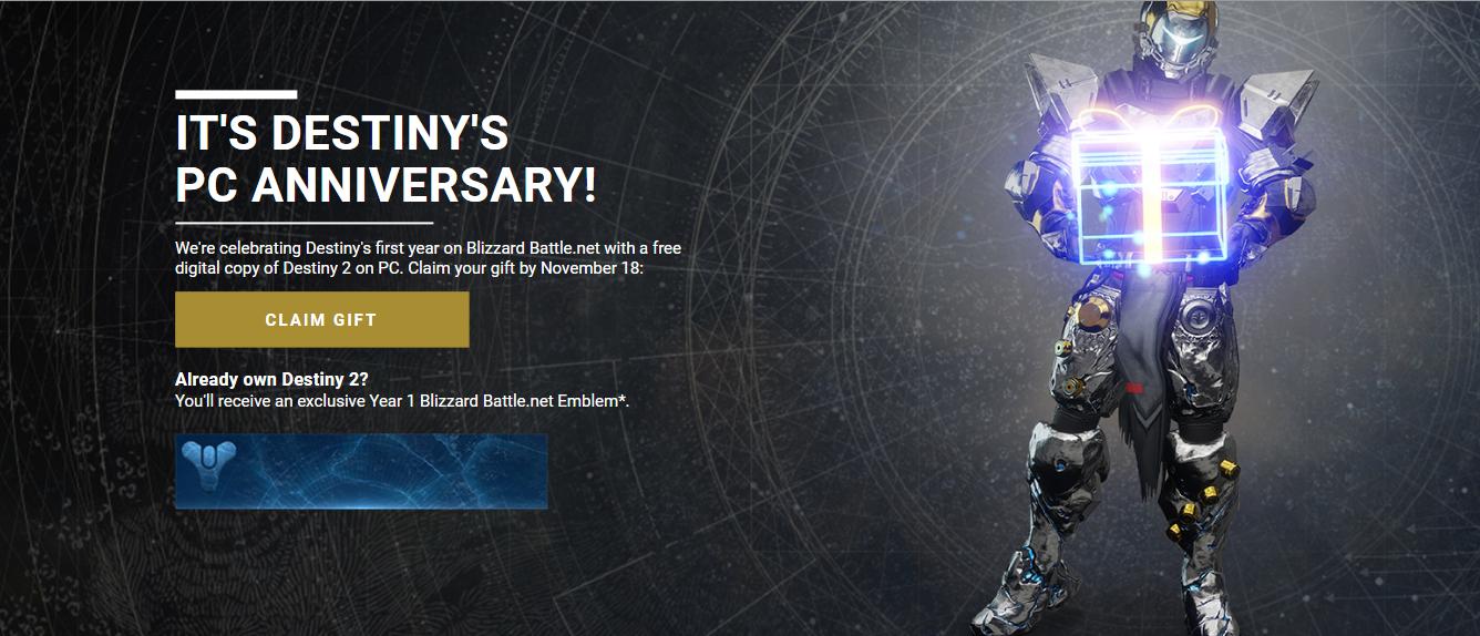 أحصل على لعبة Destiny 2 بشكل مجاني كليا و قانوني للحاسوب لفترة محدودة